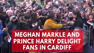 Prince Harry and Meghan Markle delight fans in Cardiff