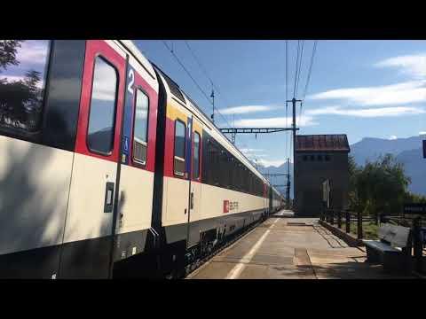 Trains à Lalden, Ausserberg, Brig, Bouveret - 23 septembre 2017 - Transports Publics Suisses