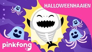Halloweenhaaien | Halloween-versie van Baby Haai | Halloweenliedjes | PINKFONG liedjes voor kinderen