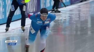 Claudia Pechstein 5000m - 6:56.60 (TR). WC2 Stavanger 2017/2018