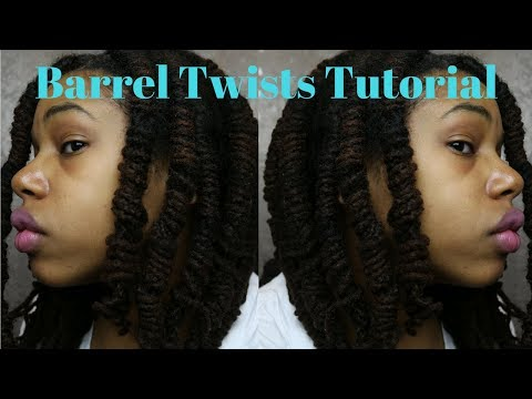 Loc Tutorial~How To Do Barrel Twist With Dreads