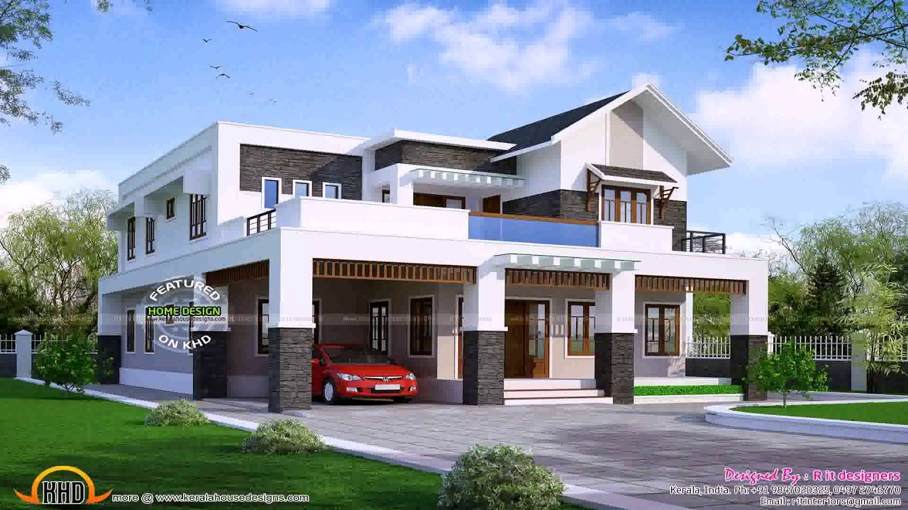 Modern House Plans 4000 Square Feet - YouTube