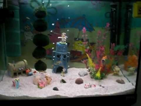 Spongebob bikinibottom youtube for Aquarium decoration kits