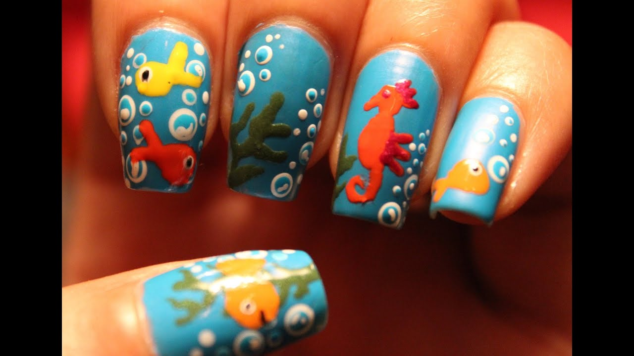 under the sea nails dee2102 youtube