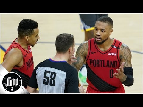 Damian Lillard left 'frustrated' by late calls in Game 2, not just Andre Iguodala play | The Jump