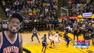 CURRY GETS A FREAKY DUNK IN TRASH UNIFORMS! WARRIORS vs CLIPPERS HIGHLIGHTS