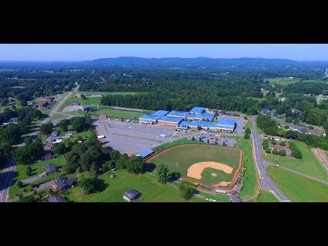 Drone flyover of Alexander Central High School - July 2017