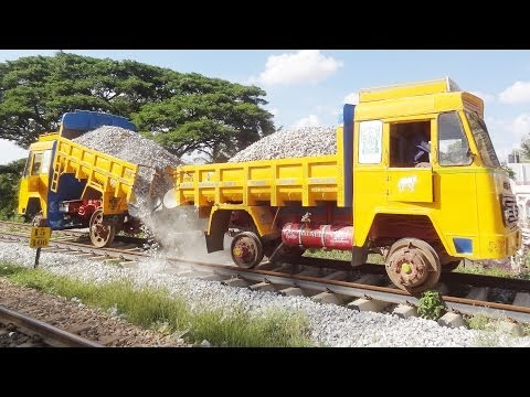 TRACK BALLASTING : Indian Railways STYLE