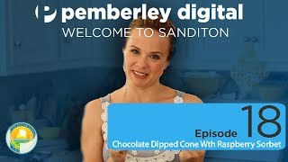 Chocolate Dipped Cone With Raspberry Sorbet - Welcome To Sanditon: Ep 18