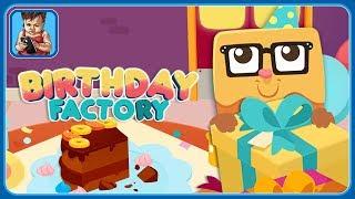 Готовим подарки и угощения на Фабрике Дня Рождения в игре Birthday Factory: для малышей
