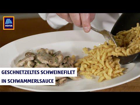 Kochen mit Schuhbeck - Geschnetzeltes Schweinefilet in Schwammerlrahmsauce