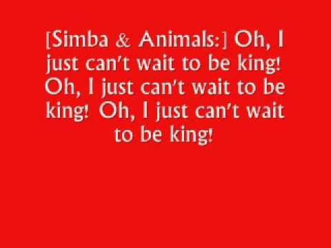 The Lion King I Just Cant Wait To Be King