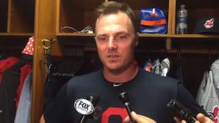 Jay Bruce's first day with the Indians