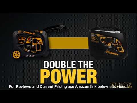 Firman W03082 3300/3000 Watt Electric Start Gas Portable Generator CETL And CARB Certified, Bla