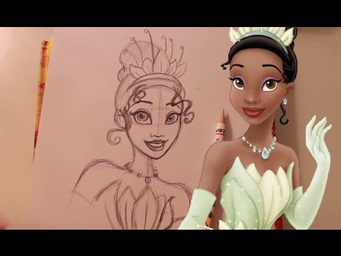 How to Draw TIANA from Disney's Princess and the Frog - @dramaticparrot