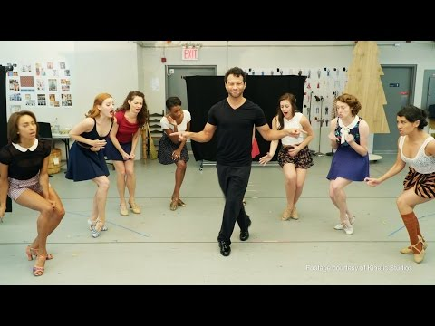 Rehearsal s of Bryce Pinkham & the Cast of HOLIDAY INN, THE NEW IRVING BERLIN MUSICAL