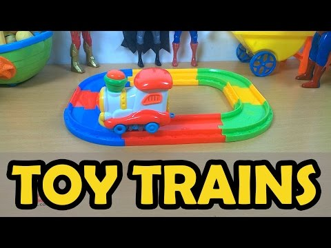 Toy Trains for Kids video: Unboxing Construction Model Railway  Toy Train with Kidi Channel