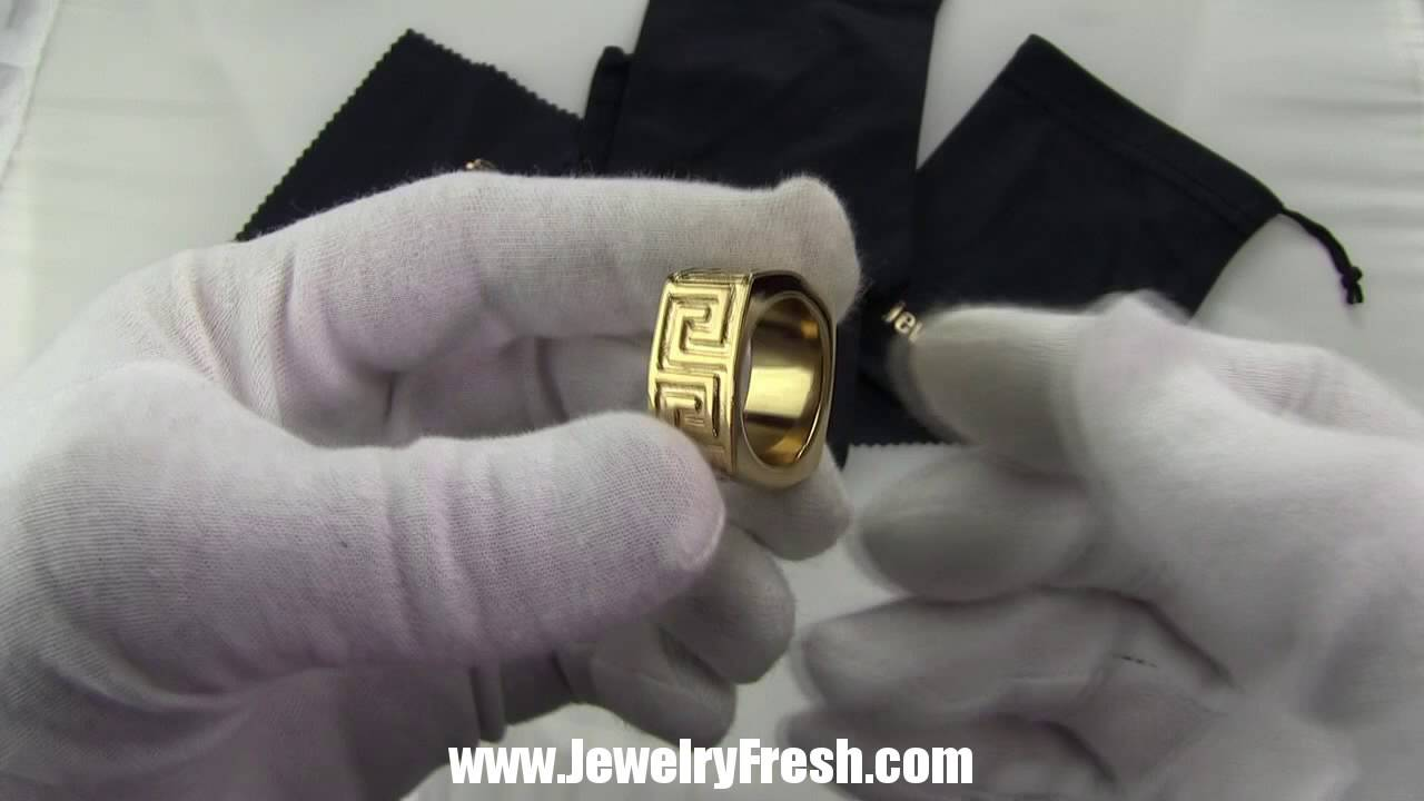 Unique gold greek key versace style ring by jewelryfresh youtube unique gold greek key versace style ring by jewelryfresh buycottarizona Choice Image