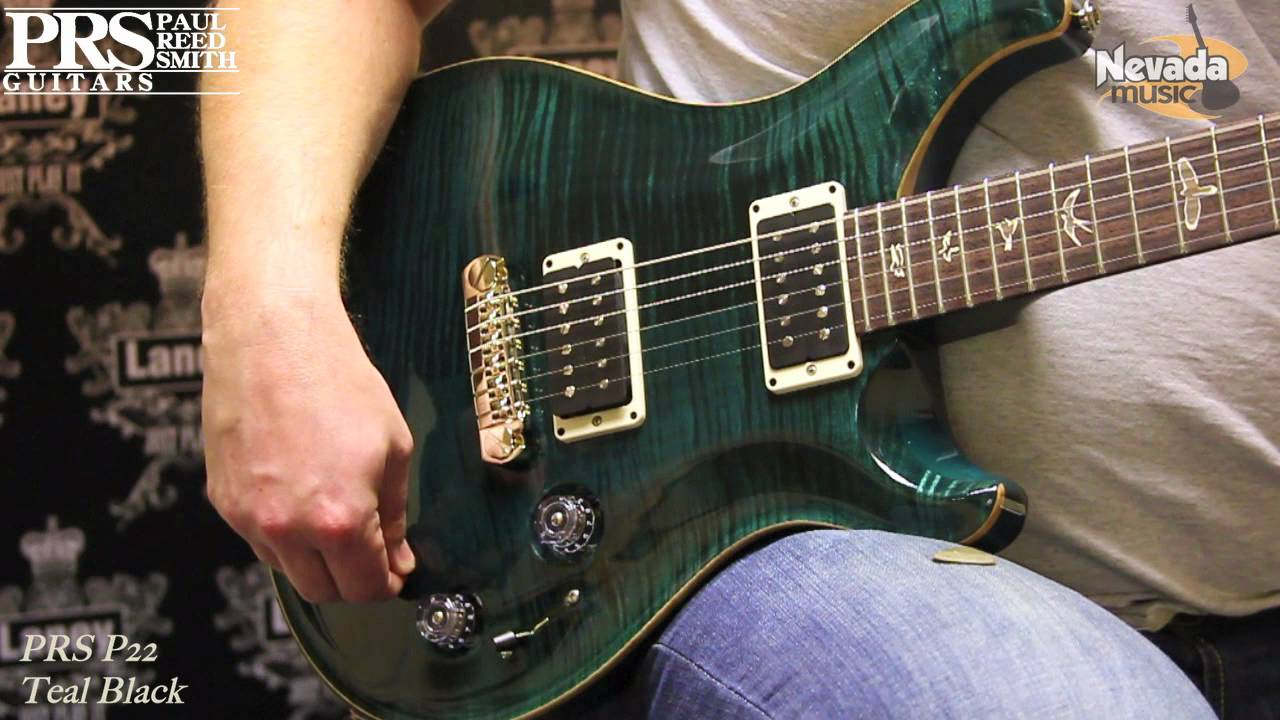 Prs P22 Electric Guitar Demo With Piezo Pick Up In Teal
