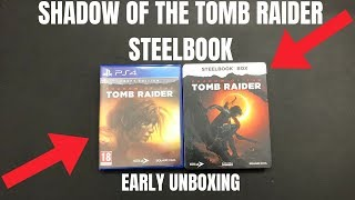 Shadow Of The Tomb Raider Croft Edition PS4 Unboxing: tomb raider ps4 2018