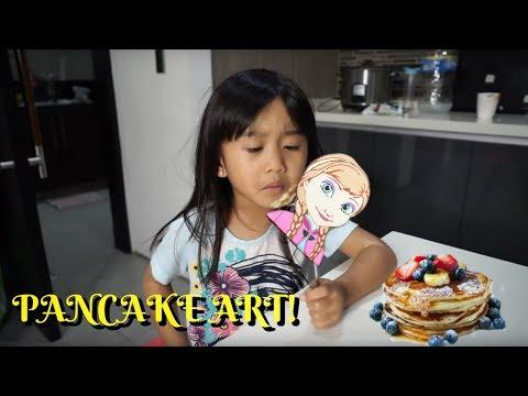 PANCAKE ART CHALLENGE WITH RACHEL