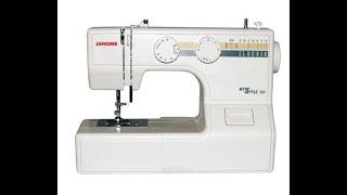 Швейная машина Janome My style 100. Обзор. Заправка шпульки и нитки