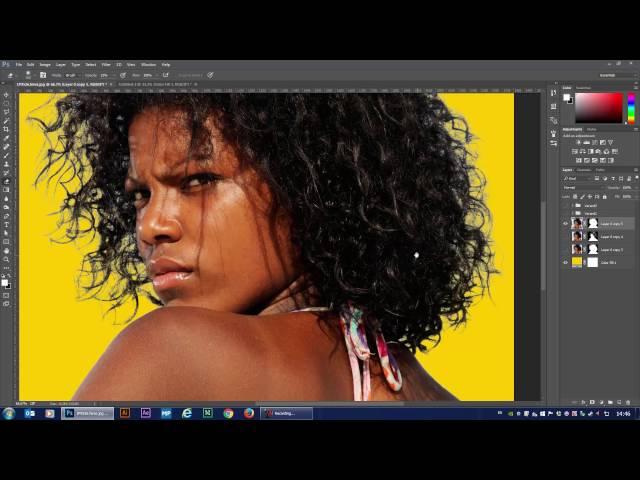 Что делать с волосами после вырезания в Фотошопе