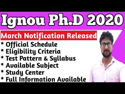Ignou Phd 2020 ( पीएचडी कोर्स ) | How To Admission In Phd Course 2020 | What Is Phd | #phd