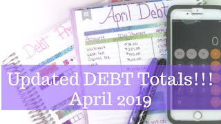 APRIL Updated Debt & Snowball TOTALS! || Snowball Method || Dave Ramsey Inspired