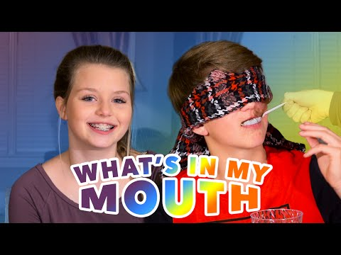 'What's In My Mouth' Challenge! (MattyBRaps vs Carissa)