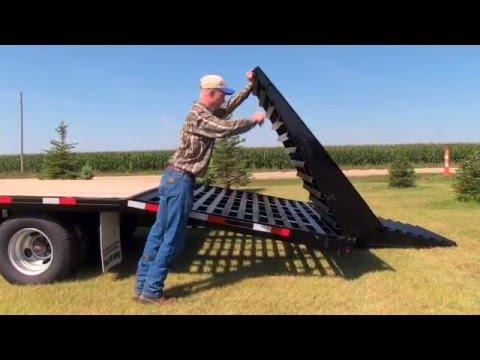 Mid-Plains Equipment Titan Wide Glide Folding Ramp