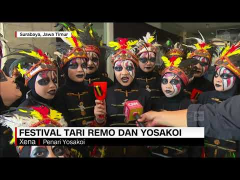 Festival Tari Remo Dan Yosakoi Di Surabaya