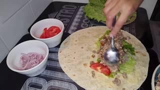 kebab tortilla a la viande hachee