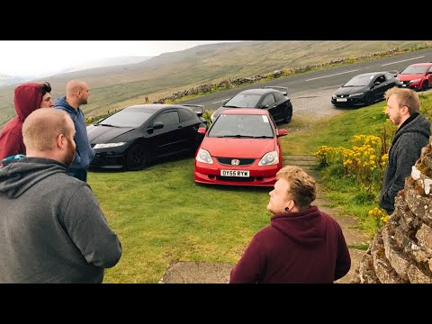 3 generations of Honda Civic type R // day out at the buttertubs pass