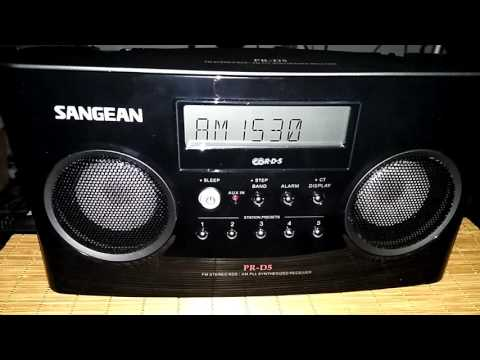 Sangean PR-D5 - AM/MW DX of ESPN Radio WCKY on 1530 kHz from Cincinnati, Ohio, USA