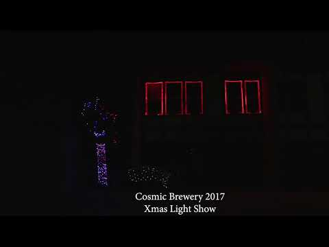 "Cosmic Brewery 2017 XMAS Light Show ""Mr. Grinch"""