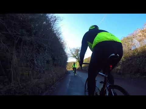 60 minute Indoor Cycling Video. Cheshire, England. Turbo Training film