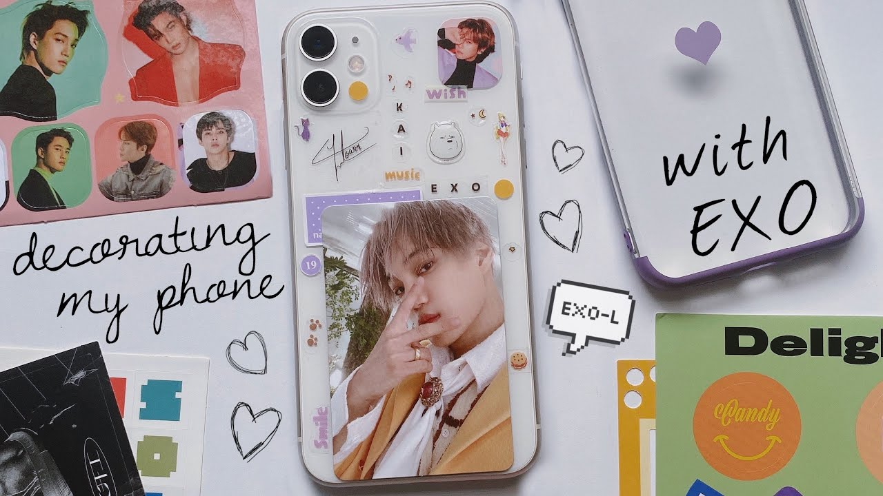 decorating my phone with exo | kai solo edition