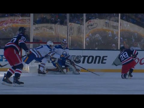 Carey scores past Lehner after screaming for puck