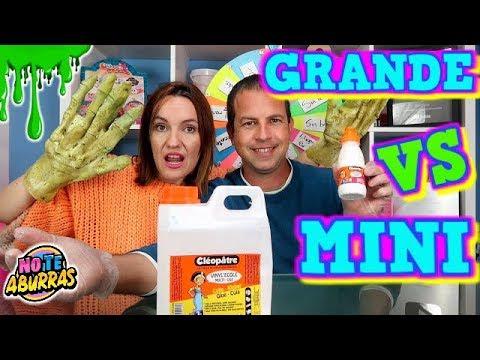 SLIME GRANDE VS SLIME MINI ingredientes grandes VS pequeños para hacer SLIME
