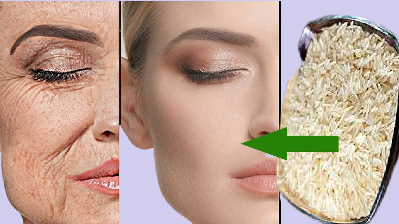 RICE ANTI  - AGING FACE MASK TO LOOK 10 YEARS YOUNGER THAN YOUR AGE! REDUCE WRINKLES, LIFT, AND FIRM