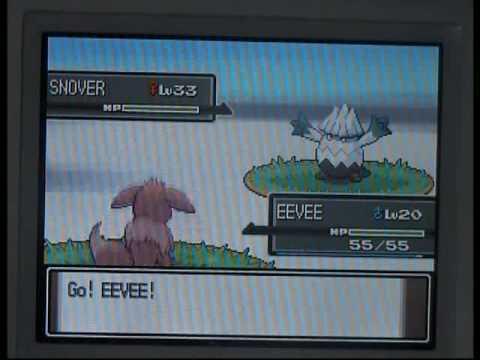 How to evolve Eevee into Glaceon - Pokemon Platinum