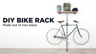 DIY Bike Rack made out of pipes