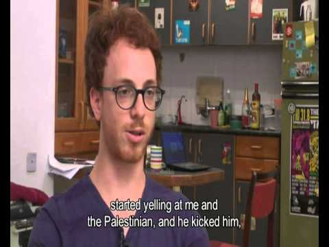 The settler kicked a Palestinian