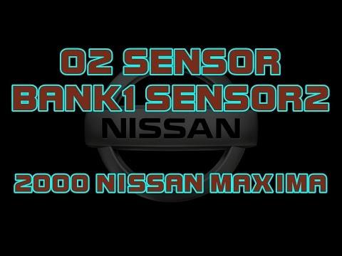 ⭐ 2000 Nissan Maxima - How To Change The Bank 1, Sensor 2, O2 Sensor (Downstream).