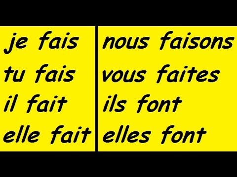 ♫ Faire Conjugation Song (To Do) ♫ French Conjugation ♫