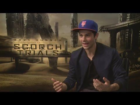 Dylan O'Brien talks Maze Runner: The Scorch Trials and gushes about girlfriend Britt Robertson