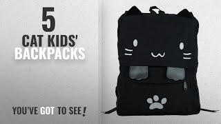 Top 10 Cat Kids' Backpacks [2018]: Sprite Beat Cute Canvas Cat Print Backpack School Bag Light