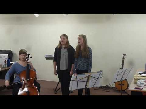 "Maunder Trio sings ""Bread and Roses"""