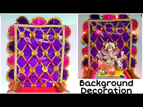 Ganpati Decoration Ideas | easy , simple & quick Ganpati decoration ideas | by Punekar Sneha